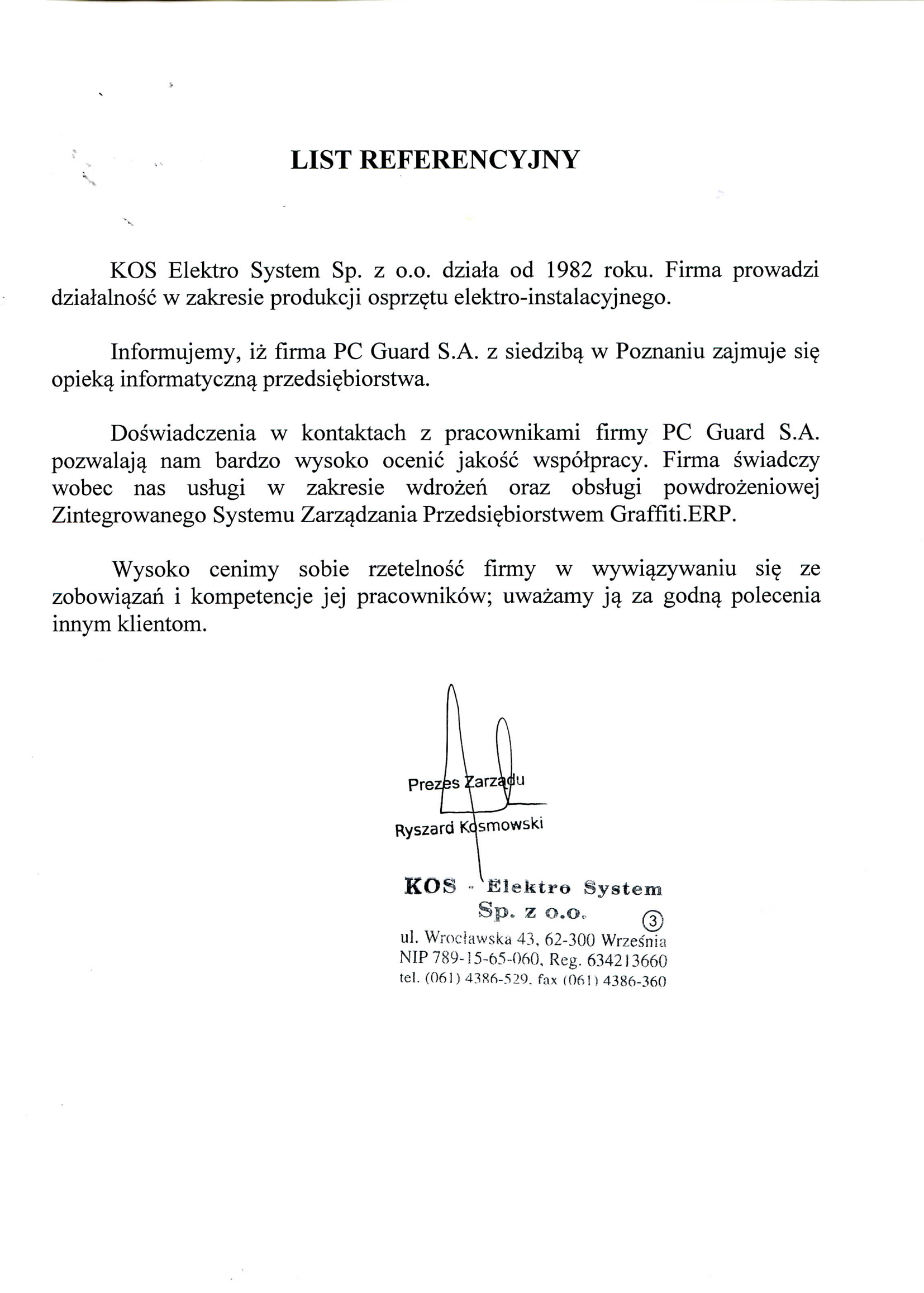 KOS – Elektro System Sp. z o.o.